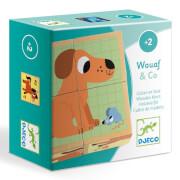 Holzpuzzle: Wouaf & co