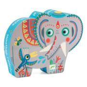 Formen Puzzle: Haathee, Asian elephant - 24Stk.