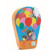 Formen Puzzle: Der Heißluftballon
