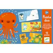 Lernspiel - Puzzle duo/trio: Verstecken & Finden