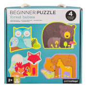 Petitcollage - Beginner Puzzle Waldtiere 3/4/5/6 Teile