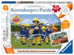 Ravensburger 00046 tiptoi® Puzzle für kleine Entdecker: Feuerwehrmann Sam 2x24 Teile
