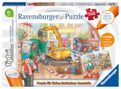 Ravensburger 00049 tiptoi® Puzzle für kleine Entdecker: Baustelle 2x12 Teile