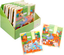 SpielMaus Holz Einlegepuzzle, 2-fach sortiert