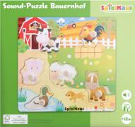 SpielMaus Holz Sound Holzpuzzle Bauernhof