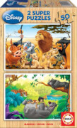 Educa - Holzpuzzle Animal Friends 2x50 Teile