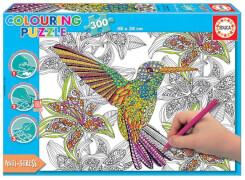 Educa - Colouring Puzzle Hummingbird 300 T.