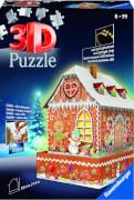 Ravensburger 11237 3D Puzzle Lebkuchenhaus bei Nacht 216 Teile