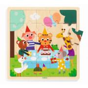 Holz Puzzle: Puzzlo Happy