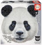 Educa - Shape Puzzle panda face 400 Teile