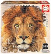 Educa - Shape Puzzle face of lion 400 Teile
