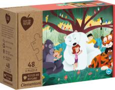 Clementoni Puzzle Play for Future - Fantasyland 3 x 48 Teile