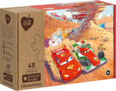 Clementoni Puzzle Play for Future - Cars 3 x 48 Teile