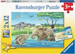 Ravensburger 05095 Puzzle Tierkinder aus aller Welt 24 Teile