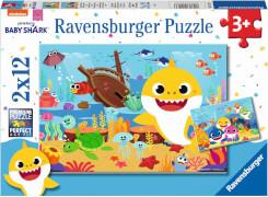 Ravensburger 05123 Puzzle Der kleine Baby Hai 2x12 Teile