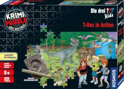 Kosmos Krimipuzzle Die drei ??? Kids 200 Teile / T-Rex in Action
