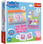 Peppa Pig Memo + 2in1 Puzzle (30 und 48 Teilen) + Minipuzzle (53 Teile)