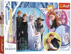 Glitzer Puzzle 100 # Disney Frozen