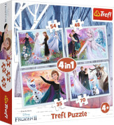 4 in 1 Puzzle # Disney Frozen
