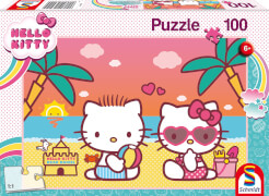 Schmidt Spiele 56409 Hello Kitty Badespaß mit Kitty, 100 Teile