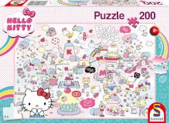 Schmidt Spiele 56410 Hello Kitty Kittys Welt, 200 Teile