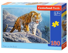 Glow2B Castorland Tiger on the Rock, Puzzle 180 Teile
