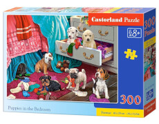 Glow2B Castorland Puppies in the Bedroom, Puzzle 300 Teile