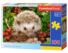 Glow2B Castorland Hedgehog with Berries, Puzzle 100 Teile
