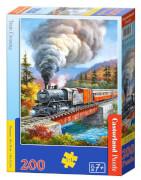 Glow2B Castorland Train Crossing, Puzzle 200 Teile