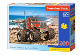 Glow2B Castorland Monster Truck on the Rocky Coast, Puzzle 200 Teile