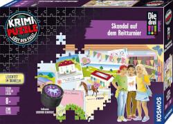Kosmos Krimipuzzle Die drei !!! 200 Teile / Skandal auf dem Reitturnier