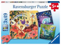 Ravensburger 05181 Puzzle Einhorn, Drache und Fee