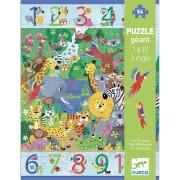 Bodenpuzzle: 1 bis 10 Dschungel 54 Teile