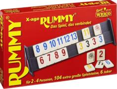Rummy X-Age Edition mit großen Steinen und Zeichen