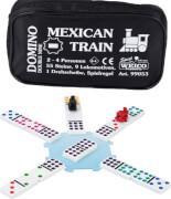 Domino Mexican Train in der Reißverschlusstasche