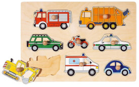 Steckpuzzle Verkehrsmittel, 8 teilig, ca. 30x21 cm, ab 24 Monaten