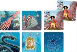 Die Spiegelburg - Capt'n Sharky Memo-Spiel Entdecke die Tiefsee, 60 Spielkarten