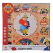 Simba Feuerwehrmann Sam - Einsatztafel ''Operations Board'' inkl. Pins, Holz, ca. 30x30 cm, ab 3 Jahre