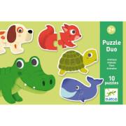 Lernspiele: Puzzle duo/trio: Tiere