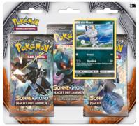 Pokémon Sonne & Mond 03 Nacht in Flammen 3-Pack Blister