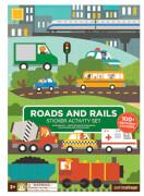Petitcollage - Sticker Activity Set Strassen & Schienen