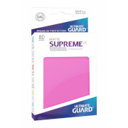 80 Karten-Schutzhüllen (Sleeve), 66x91 mm (Standard), matt-pink