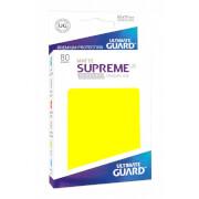 80 Karten-Schutzhüllen (Sleeve), 66x91 mm (Standard), matt-gelb
