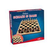 Noris  Spiele Deluxe Holz Schach & Dame