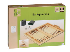 Natural Games Backgammon, 38 x 26,5 x 5 cm