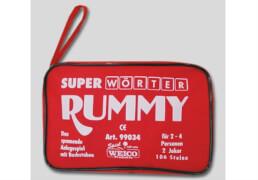 Super Wörter Rummy, für 2-4 Spieler, mit 106 Steinen