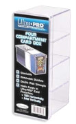 Ultra Pro 4-Compartment Card Box - Clear
