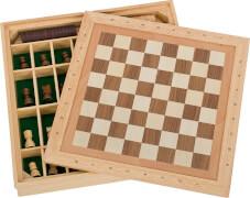 GoKi Spiele-Set Schach, Dame und Mühle