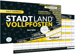 STADT LAND VOLLPFOSTEN - DO IT YOURSELF-EDITION (DinA4-Format)
