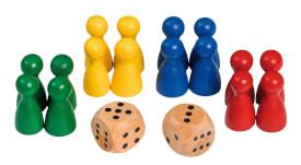 Philos Spielkegel mit Würfeln.